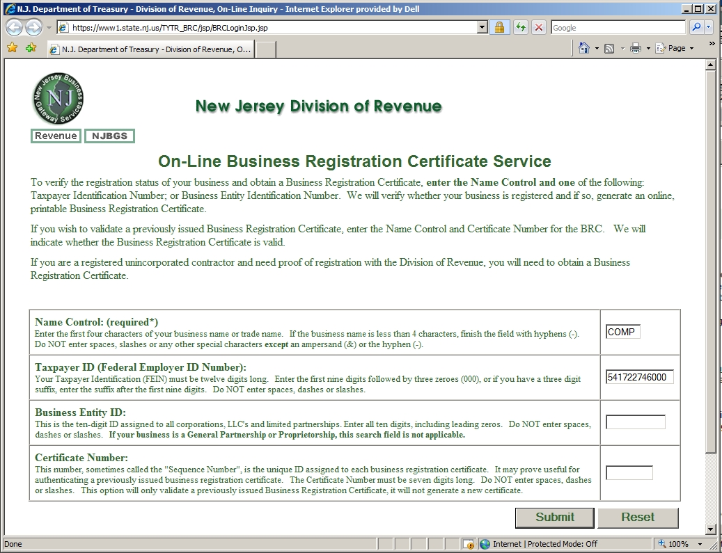 New page 1 business license for cicorporation to work in new jersey 1betcityfo Images