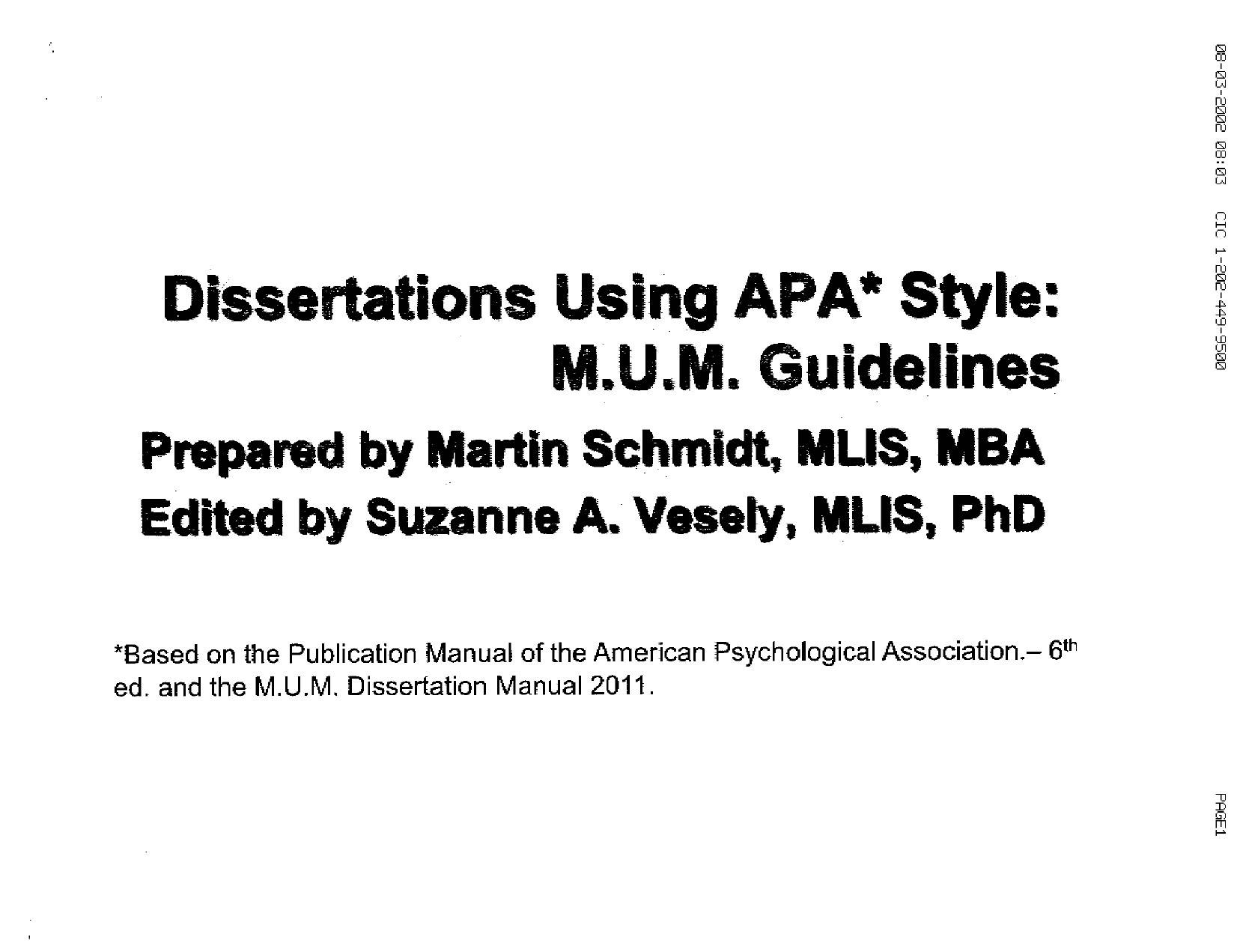 dissertation requirements The graduate school handbook dissertation requirements a dissertation is required, with a minimum of six credit hours of dissertation (994) registration.
