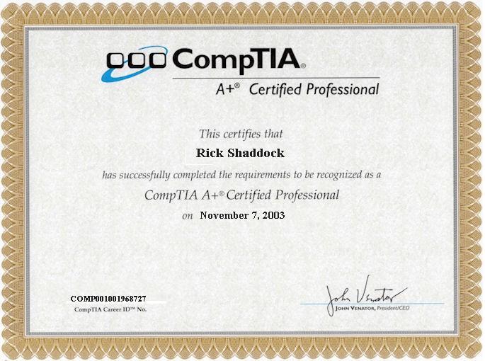 comptia certification exam cicorp itpro
